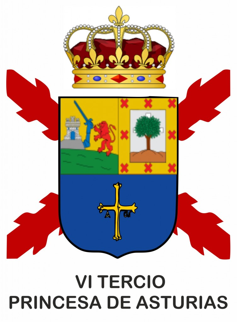 ESCUDO VI TERCIO Principe de Asturias1